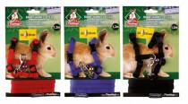 Postroj hlod. nylon s vodítkom mix farieb Karlie králik
