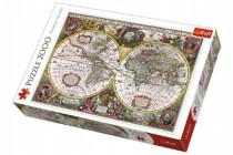 Puzzle Mapa Sveta rok 1630 2000 dielikov 96x68cm