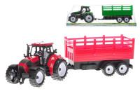 Traktor s vlečkou 38 cm na zotrvačník - mix farieb