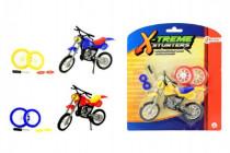 Motorka skrutkovacie prstová s doplnkami plast 12cm - mix farieb