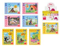 Minipuzzle Krtko 54D - mix variantov či farieb