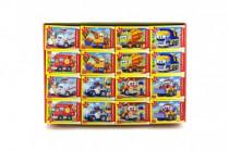 A-08521-BP Minipuzzle Pohádková auta 54 dílků 16,5x11cm - mix variant či barev