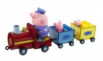 PEPPA PIG - train + 3 figures - VÝPREDAJ
