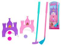 Golfový set princezná 2 ks palíc 53-56 cm s loptičkami a doplnky