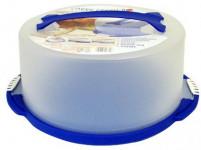 podnos s krytom guľatý 28cm v.15cm plastový - mix farieb