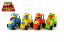 Traktor plast 8cm na zotrvačník - mix variantov či farieb