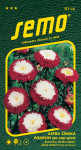 Semo Astrovka čínska - Pompon red and white 0,5g