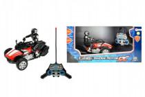 Trojkolka motorka RC plast 20cm na batérie na diaľkové ovládanie so svetlom