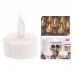 svíčka čajová LED pr.3,5cm BÍ (2ks) s bateriemi