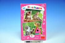 Puzzle Koťátko a kamarádi 2x48dílků 26,4x18,1cm