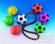 Hračka mech. guma Lopta futbalová neon Nobby 6 cm