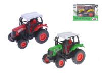 Traktor 9 cm 1:43 kov spätný chod - mix farieb