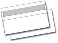 Obálka DL, biela, samolepiaca 110x220 mm, 50 ks