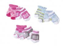 Baby born Ponožky (2 páry), 3 druhy - mix variant či barev