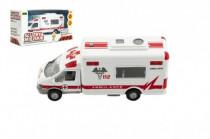 Auto ambulancie mestské služby plast 15cm na batérie so zvukom so svetlom