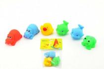Zvieratká gumová 3ks v sáčku - mix variantov či farieb