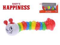 Hrkálka kĺbové 19 cm Baby's Happiness - mix farieb