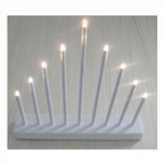 svietnik vianočné el. 9 sviečok LED, kov., 26x31x5,5cm, na batérie