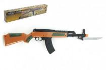 Pištoľ samopal so zásobníkom na guličky 56cm + guličky plast