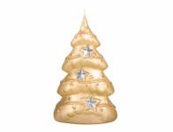 Sviečka vianočné STROMČEK s hviezdou S metalická 9x15cm