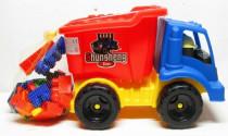 Auto nákladní sklápěčka + stavbnice 31 dílků plast 45cm