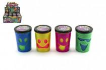 Sliz - hmota s obličejem tekoucí prdící 7,5x5,5cm - mix barev