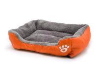 Pelech pre psov a mačky štvorhranný, oranžový, Domestic