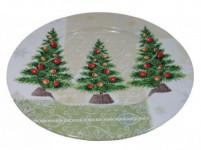 tanier plechový pr.33cm stromčekov