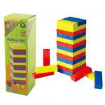 Jenga veža drevená - farebná