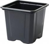 Flowerpot - container, soft plastic 9x9x9,5 (10) cm - 10 pcs - VÝPREDAJ