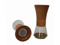 mlynček na korenie FARO 15cm sklo + orech tm.