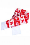 Vianočný šál L 90cm červená TR 1ks