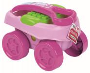 Abrick Maxi Vozík s kostkami 40 ks, růžový