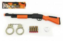 Pistole/Puška s přísavkami s doplňky plast 50cm