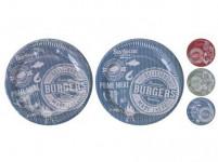 tanier papierový 23cm dekor (10ks) jednorazový - mix farieb