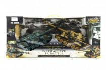 Tank RC 2ks 36cm tanková bitva+dobíjecí pack 27MHZ a 40MHz se zvukem se světlem