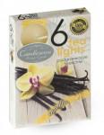 Sviečka čajová - aróma vanilka - 6 ks