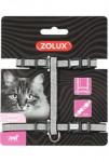 Postroj mačka SHINY nylon čierny Zolux - VÝPREDAJ