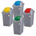 kôš odpadkový výklopný MULTIP 30l obdĺžnikový ŠE / ŽL plastové veko
