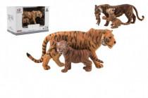 Zvieratká safari ZOO 13cm sada plast 2ks tiger 2 druhy