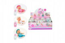 Bábätko bábika v guli plast 10cm - mix variantov či farieb