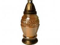 lampa hřbitovní sklo 23cm (100g) (hoří 38hod) paraf. ZLA