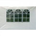 stěna k altánu 791935, 275/295x195cm s okny (2ks)