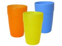kelímok 0,4l plastový, matný - mix farieb