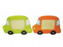 rámček na FOTO 15,5x10,5cm AUTÍČKO keramický - mix variantov či farieb