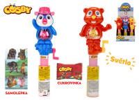 Cosby Belly light toy 26 cm na baterie se světlem s cukrovinkou a samolepkou - 12 ks - mix variant či barev