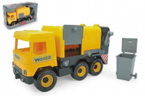 Auto middle Truck smetiar plast 42cm žltý v krabici Wader