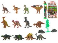Dinosaurus 3-6 cm s doplňky