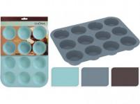 forma na muffiny 12ks 33x25x3cm silikón - mix farieb