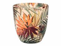Obal na kvetináč KODET PALMA keramický lesklý d13x14cm
